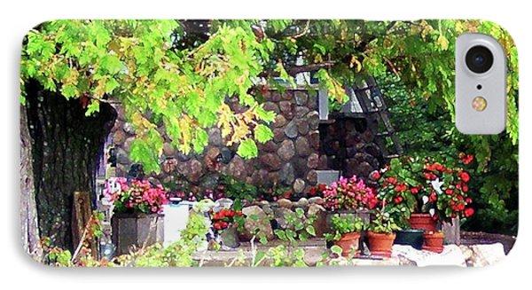 Garden Terrace Phone Case by Desiree Paquette