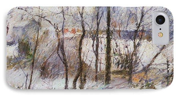 Garden Under Snow IPhone Case by Paul Gauguin