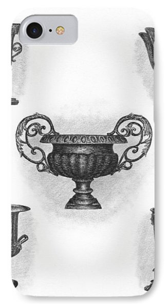 Garden Urns Phone Case by Adam Zebediah Joseph