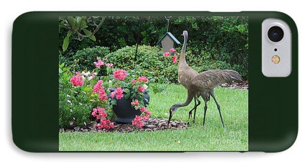 Garden Visitors Phone Case by Carol Groenen