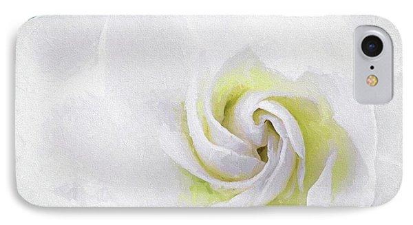 Gardenia Swirl  IPhone Case by JC Findley