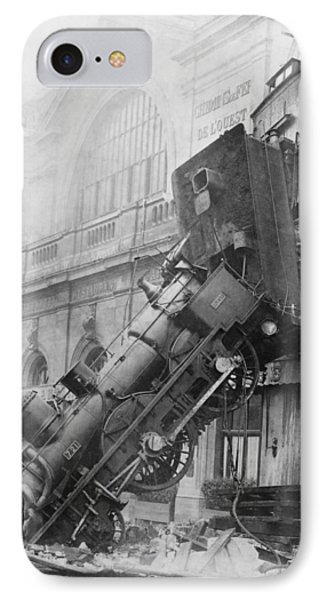 Gare Montparnasse Train Wreck 1895 Phone Case by Photo Researchers