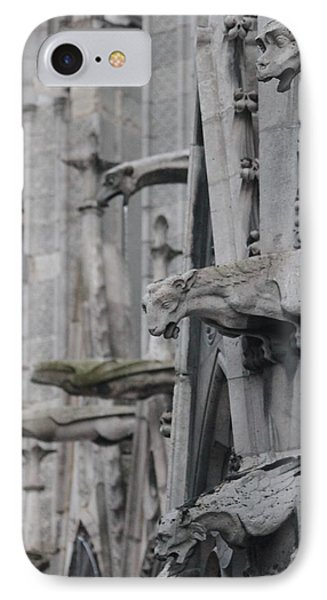 IPhone Case featuring the photograph Gargoyles North Notre Dame by Christopher Kirby