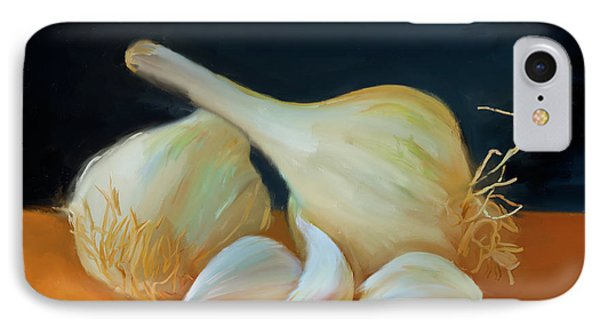 Garlic 01 IPhone Case by Wally Hampton