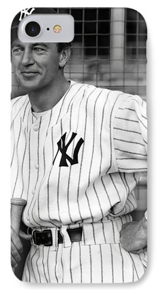 Gary Cooper As Lou Gehrig In Pride Of The Yankees 1942 IPhone Case