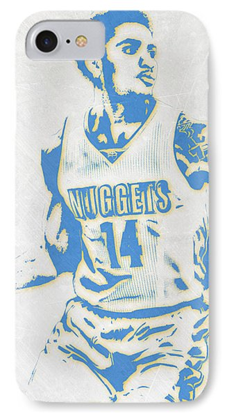 Gary Harris Denver Nuggets Pixel Art IPhone Case by Joe Hamilton