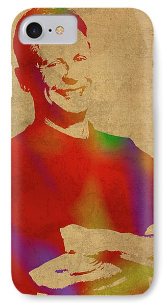 Gary Johnson Libertarian Politician Watercolor Portrait IPhone Case