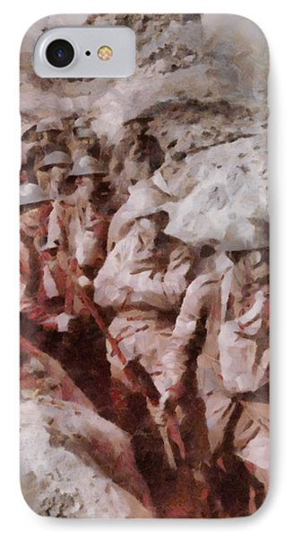 Gas Attack Wwi  IPhone Case by Esoterica Art Agency