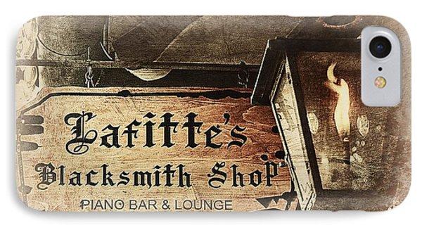Gas Light At Lafitte's Blacksmith Shop IPhone Case
