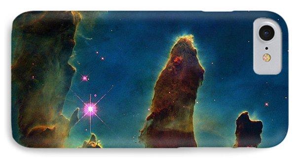 Gas Pillars In The Eagle Nebula IPhone Case by Nasaesastscij.hester & P.scowen, Asu