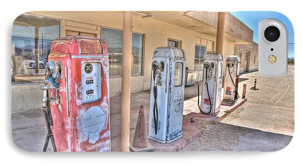 Gas Pumps IPhone Case by Matthew Bamberg