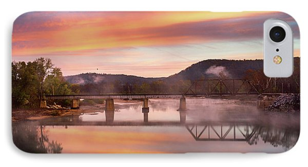 Gasconade River Sunrise Phone Case by Jae Mishra