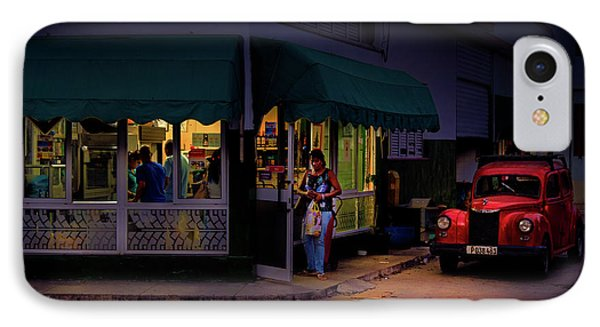 IPhone Case featuring the photograph Gasolinera Linea Y Calle E Havana Cuba by Charles Harden