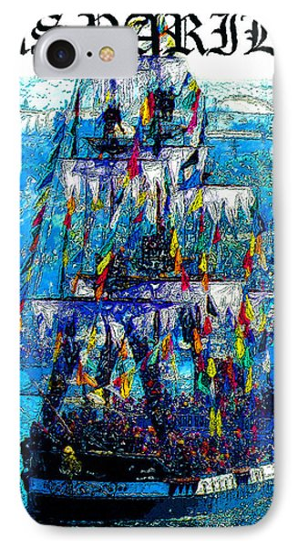 Gasparilla 2013 Poster Work A IPhone Case by David Lee Thompson