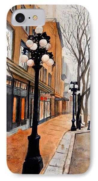 IPhone Case featuring the painting Gastown, Vancouver by Sher Nasser