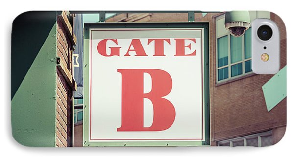 Gate B Sign At Boston Fenway Park IPhone Case by Paul Velgos