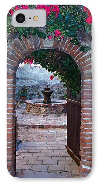 Gate To The Sacred Garden And Bell Wall Mission San Juan Capistrano California IPhone Case