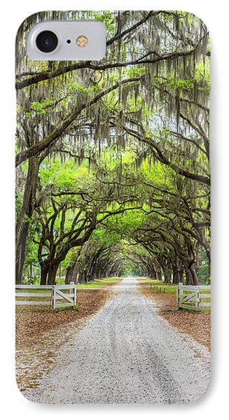 Gated Wormsloe Plantation IPhone Case by Jon Glaser