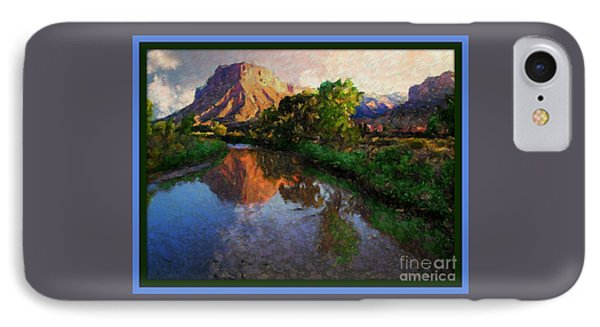 Gateway Colorado Mesa By River Phone Case by Annie Gibbons