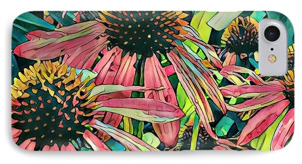 Gathering Of Coneflowers IPhone Case by Diane Miller