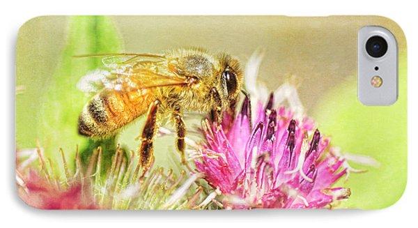 Honeybee iPhone 7 Case - Gathering Pollen by Susan Capuano