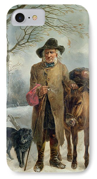 Gathering Winter Fuel  IPhone Case by John Barker