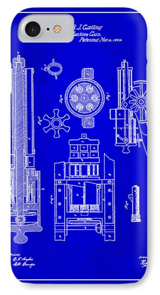 Gatlin Machine Gun Drawing 1h IPhone Case
