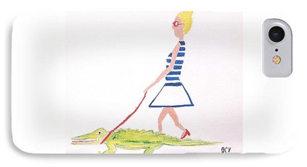 Gator Walk Phone Case by J Cv