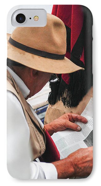 Gaucho Reading IPhone Case by Silvia Bruno