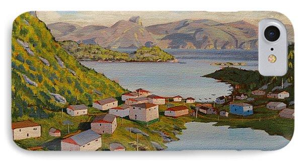 Gaultois Village Newfoundland IPhone Case by David Gilmore