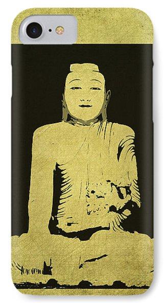 IPhone Case featuring the digital art Gautama Buddha by Kandy Hurley