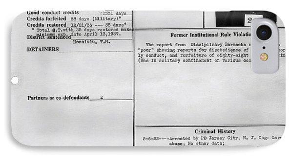 Gay History - Transferred To Alcatraz For Sodomy IPhone Case