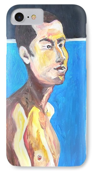 IPhone Case featuring the painting Gay Survivor by Esther Newman-Cohen
