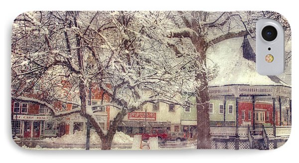 Gazebo In Snow - Milford New Hampshire IPhone Case by Joann Vitali