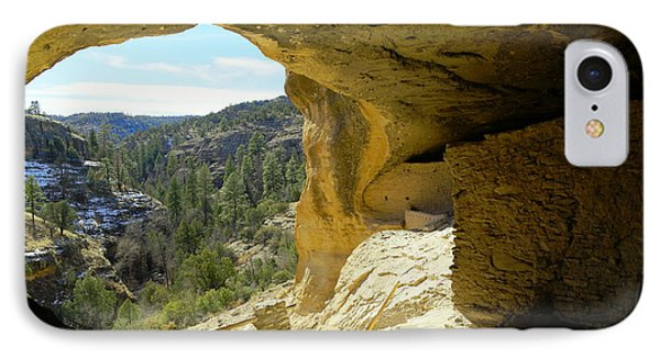 Gazing Out From Within The Gila Ruins  IPhone Case