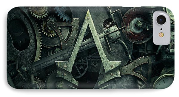 Gear Head Steampunk  IPhone Case by Movie Poster Prints