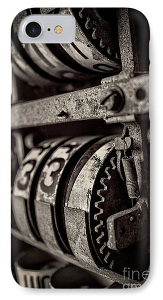 Gears And Dials IPhone Case by Edward Fielding