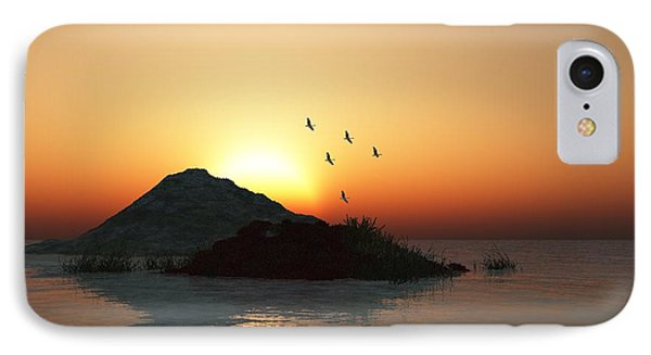 Geese And Sunset Phone Case by David Lane
