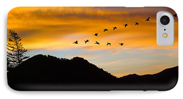 IPhone Case featuring the photograph Geese At Sunrise by Shane Bechler