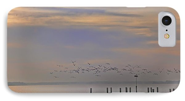 Geese Over The Chesapeake IPhone Case by Bill Cannon