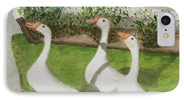 Geese Police IPhone Case by Bonnie Young