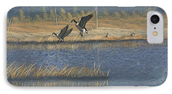 Geese IPhone Case by Richard Faulkner