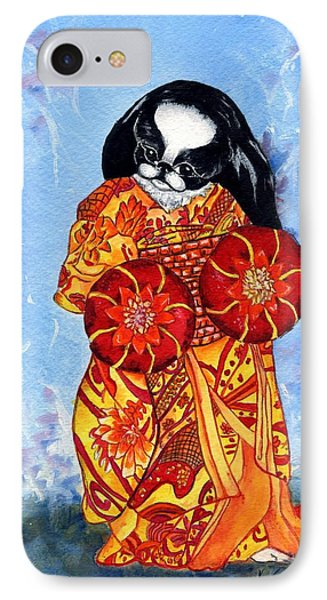 Geisha Chin Phone Case by Kathleen Sepulveda