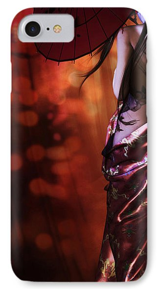 Geisha Gold Crop IPhone Case