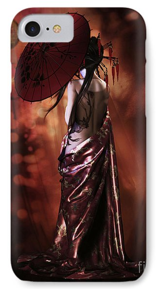IPhone Case featuring the digital art Geisha Gold by Shanina Conway