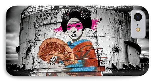 IPhone Case featuring the photograph Geisha Graffiti by Adrian Evans