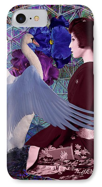 Geisha Swan Dance IPhone Case