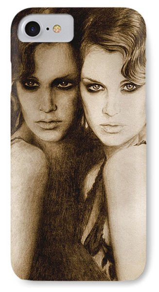 IPhone Case featuring the painting Gemini by Ragen Mendenhall