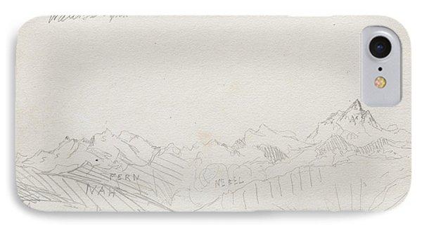Gemmi Pass, Valais Alps IPhone Case by Paul Klee