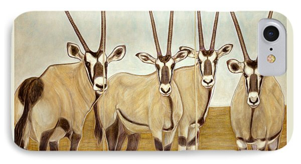 Gemsboks Or 0ryxs Triptych Phone Case by Isabelle Ehly